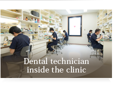 Dental technician inside the clinic